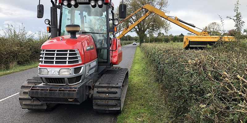 Low Ground Pressure Hedge Cutting